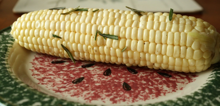 rosemary with corn