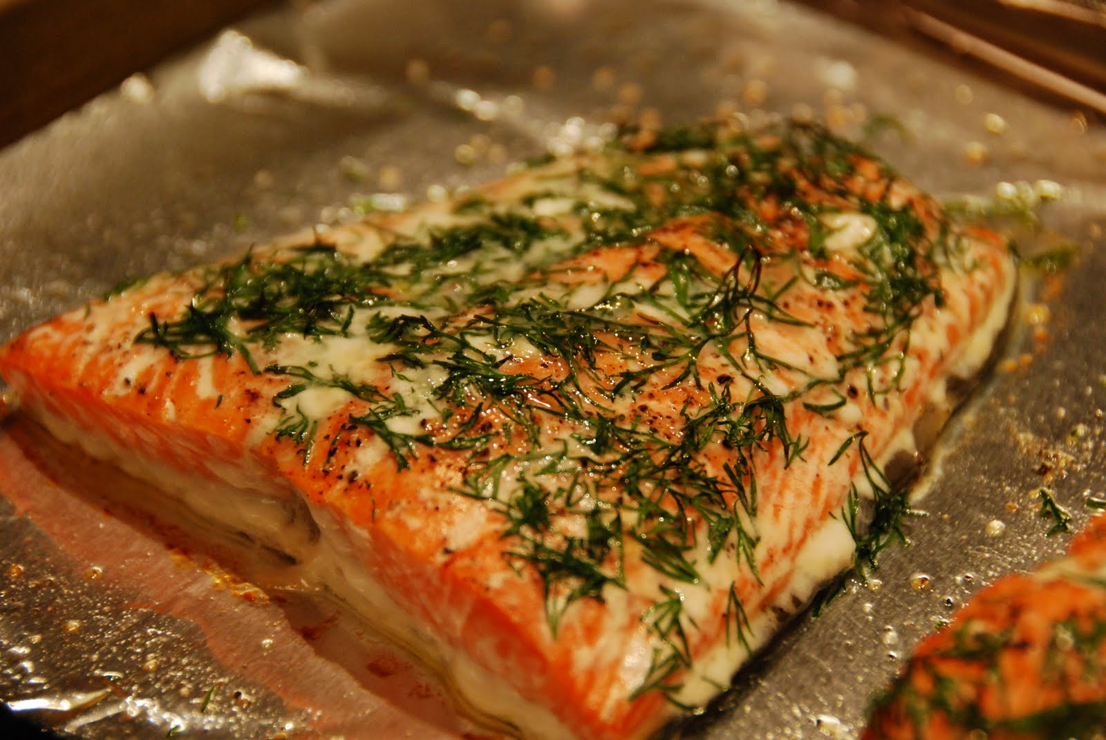 How To Bake Salmon Fillet In Toaster Oven By Robert Adams Salmon And Dill  20140916easypansearedcrispyfishfoodlab