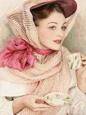 lady drinking tea