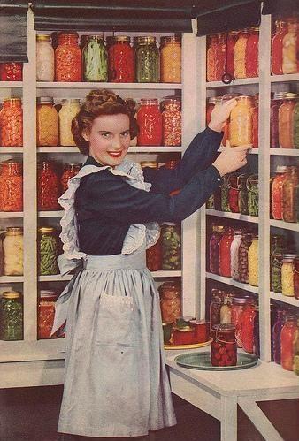 vintage food pantry