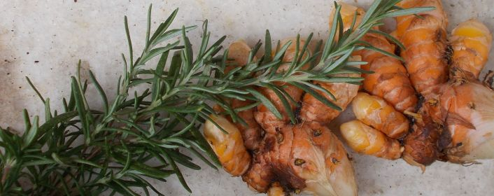 turmeric and rosemary